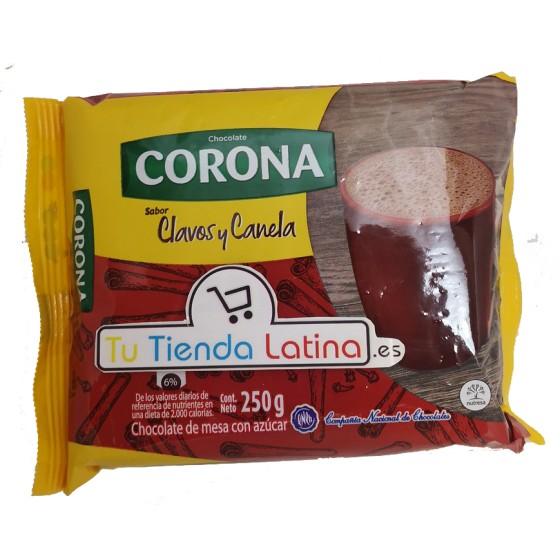 CHOCOLATE CORONA CLAVOS Y CANELA